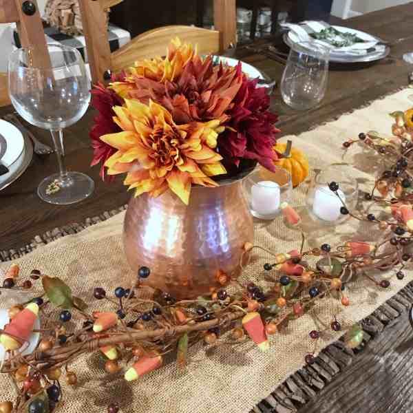 Thanksgiving Centerpiece Ideas #farmhouse #simple #tablescape