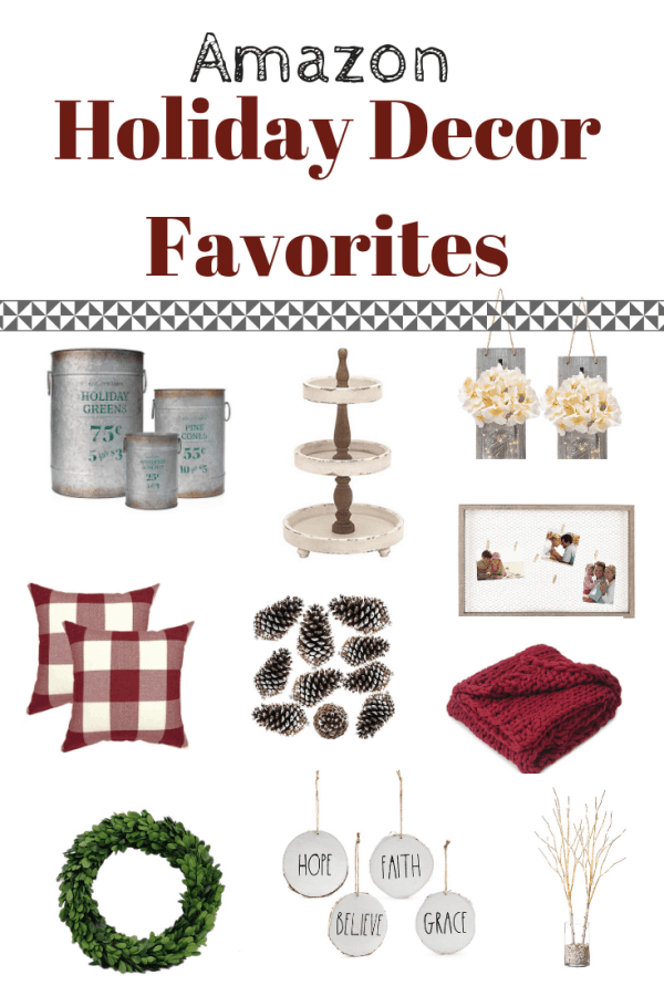 Best Amazon Christmas Decor Finds #farmhousestyle #holidaydecor #inexpensive