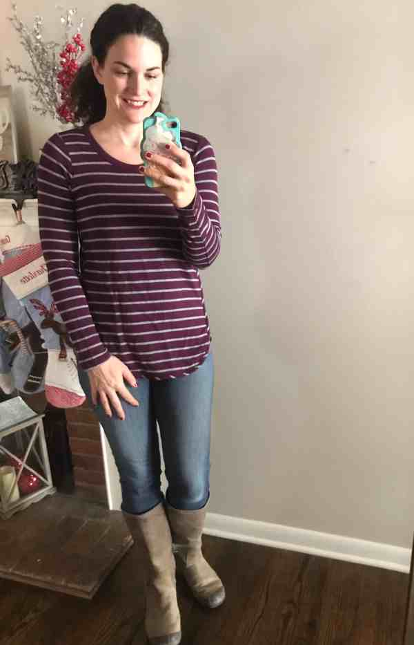 What I got in my December Stitch Fix Box #affiliate #momstyle #fallstyle #unboxing