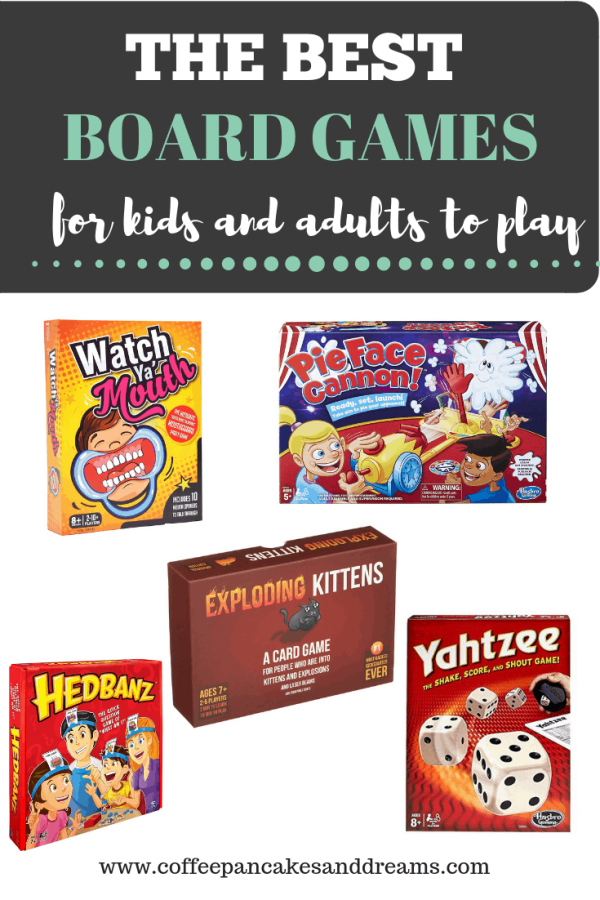 The Best Board Games to Play when you have kids and adults #groupgames #partygames #gamenight #kidfriendly
