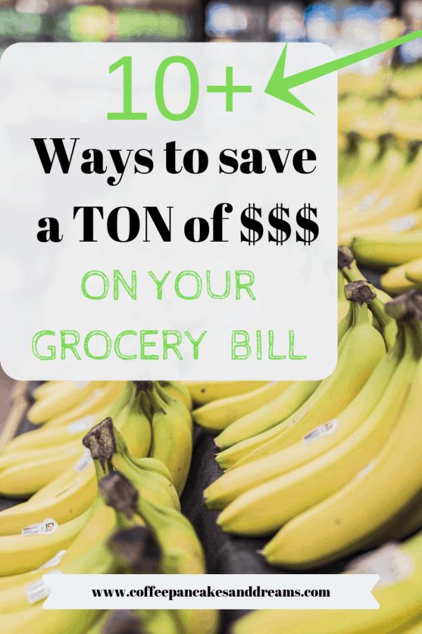 Easy ways to save money on grocery shopping #momhacks #savingmoney #moneysavingtips #groceryshopping