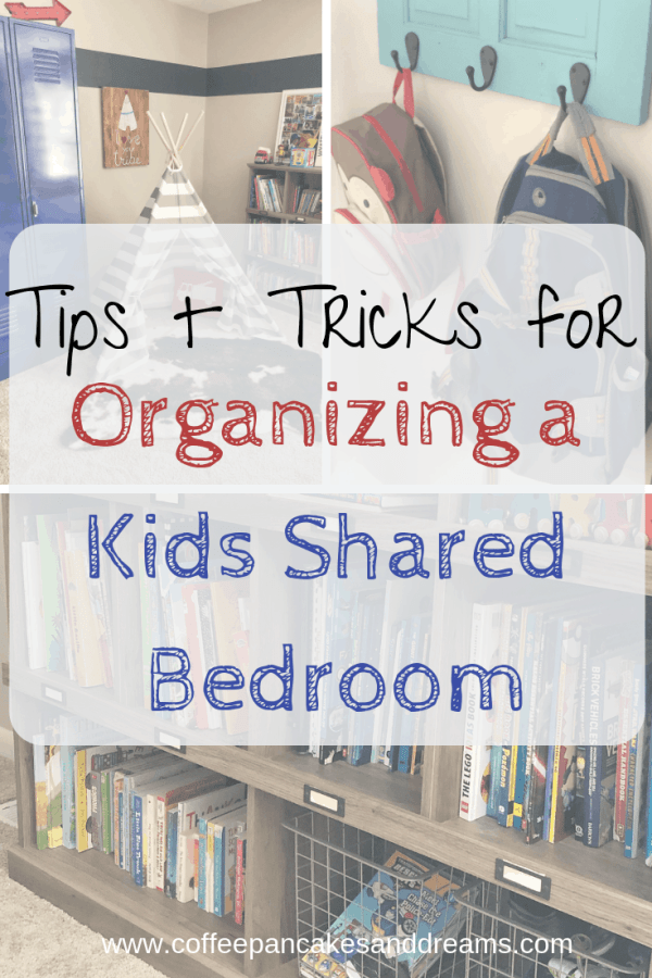 Top Tips for Kids Shared Bedroom Organization #ideas #kidbedrooms #kidsrooms #sharedspaces