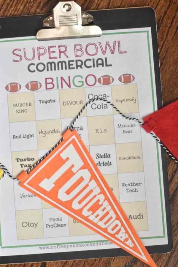 Super Bowl 2019 Commerical Bingo Cards #freeprintable #superbowlparty #footballparty #bingogame