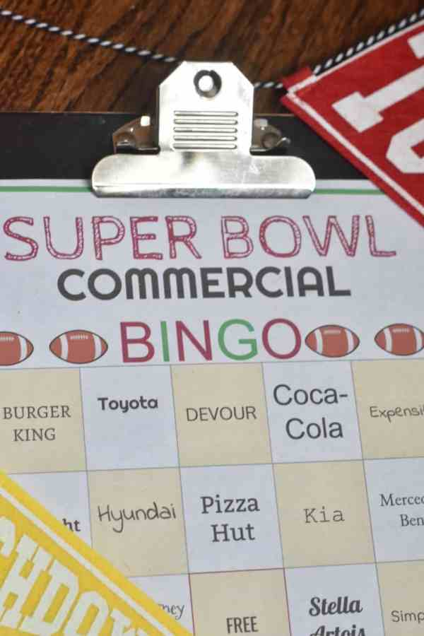 2019 Super Bowl Bingo Cards #freeprintable #freedownload #superbowlparty