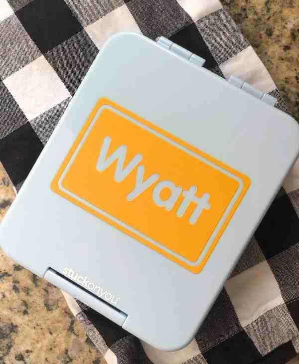 Personalized Bento Lunch Box #kidslunch #schoollunch #lunchbox