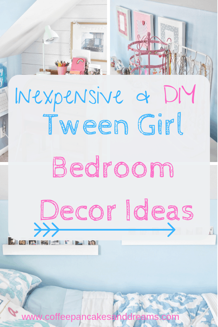 DIY Tween Girl Bedroom Decor Ideas #inexpensive #makeover #small