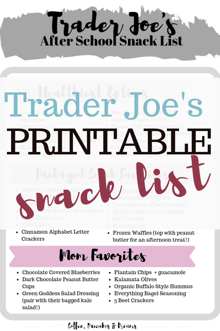 What to buy for kids at Trader Joe's #healthy #kidfriendly #snacks