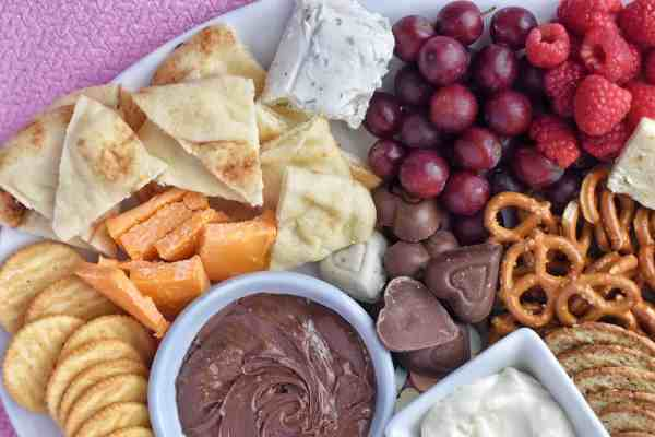 Valentine's Day Cheese Board #dessert #appetizer #datenightin