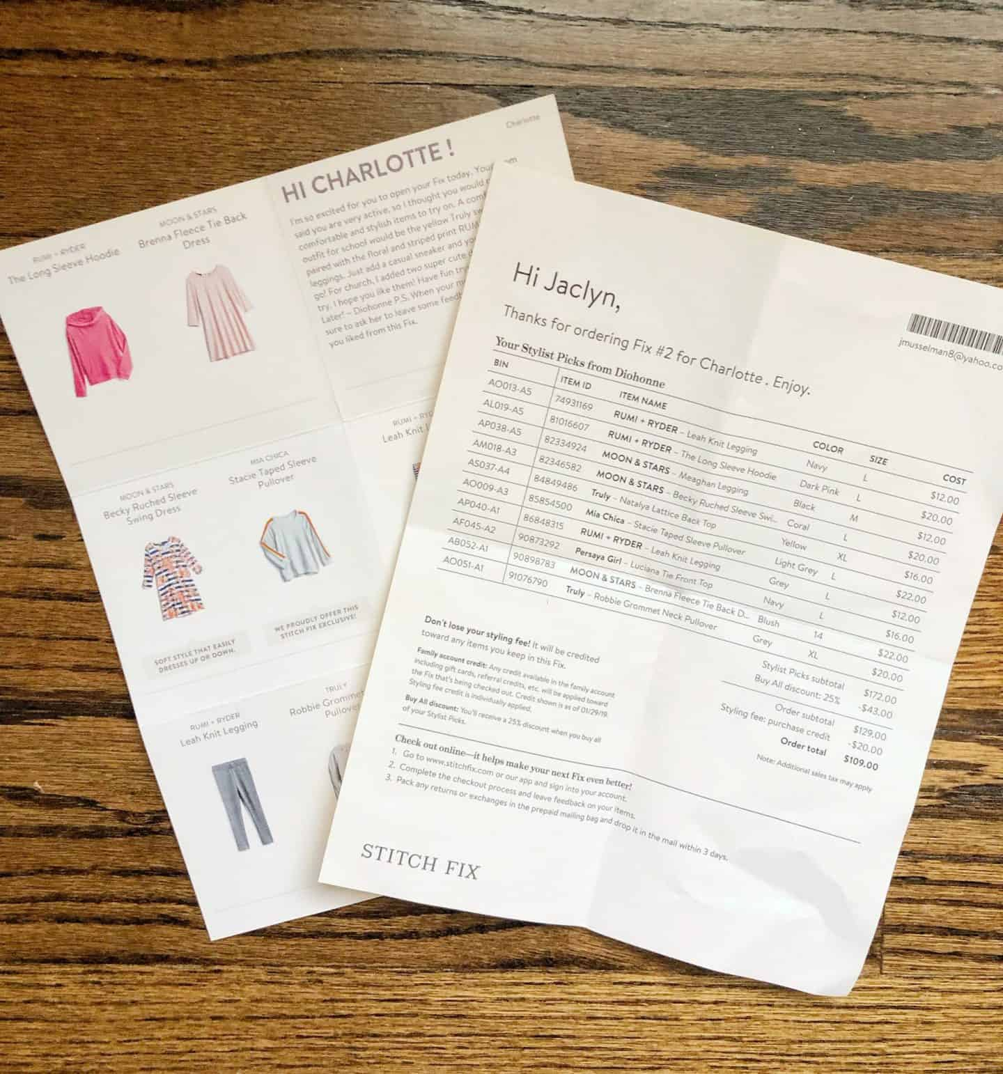 Stitch Fix Kids Clothing Review 2019 #kidsstyle #subscriptionbox #unboxing