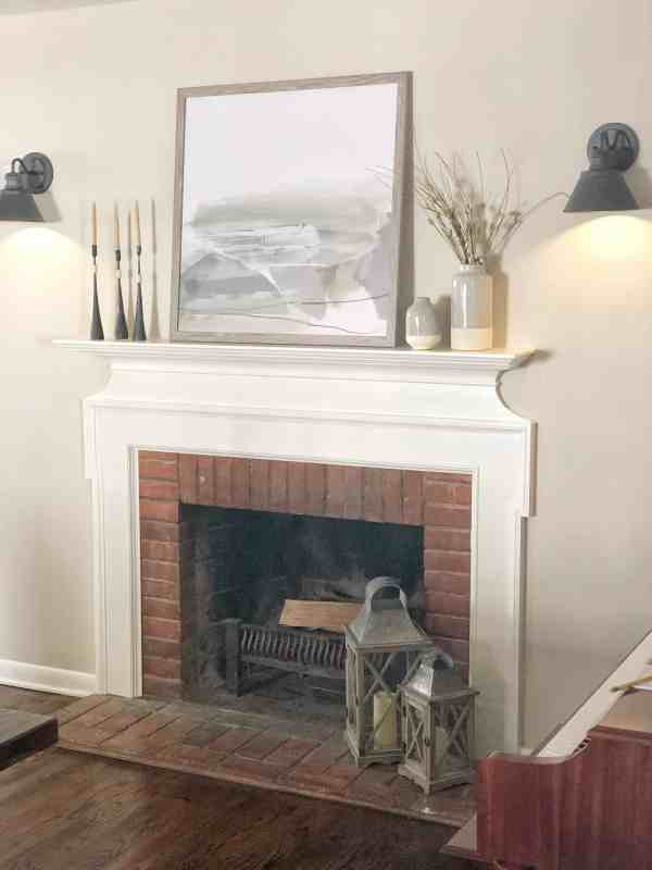 Fixer upper style mantle inspiration #homedecor #farmhouse #modern #inexpensive