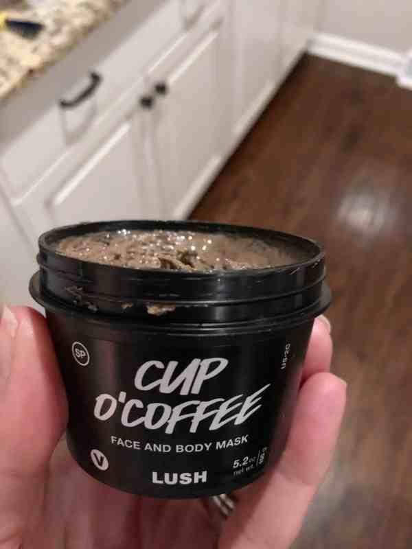 LUSH coffee scrub