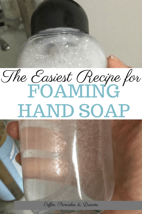 Simple foaming hand soap recipe you can make in minutes #DIY #handsoap #essentialoils