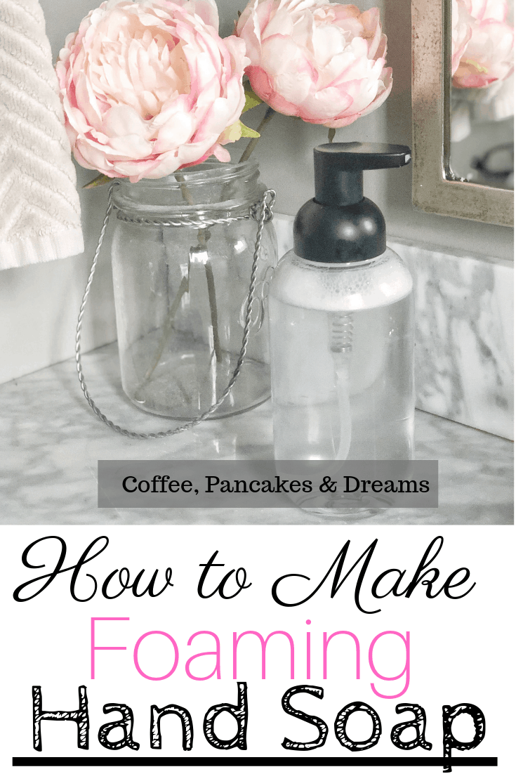 How to make your own non toxic foaming hand soap #easy #recipe #essentialoil