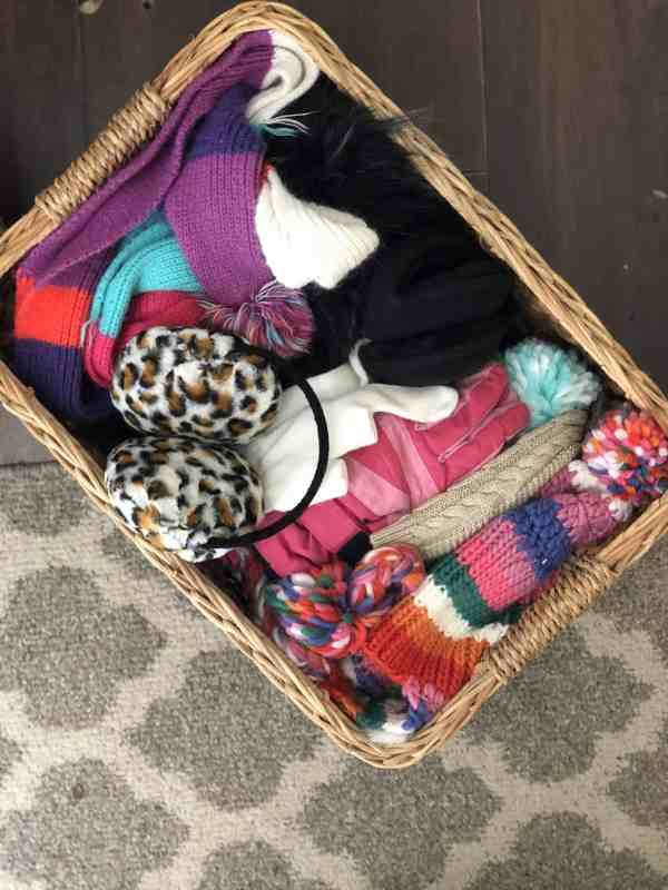 how to store winter coats and accessories #closetorganization #mudroom #springcleaning