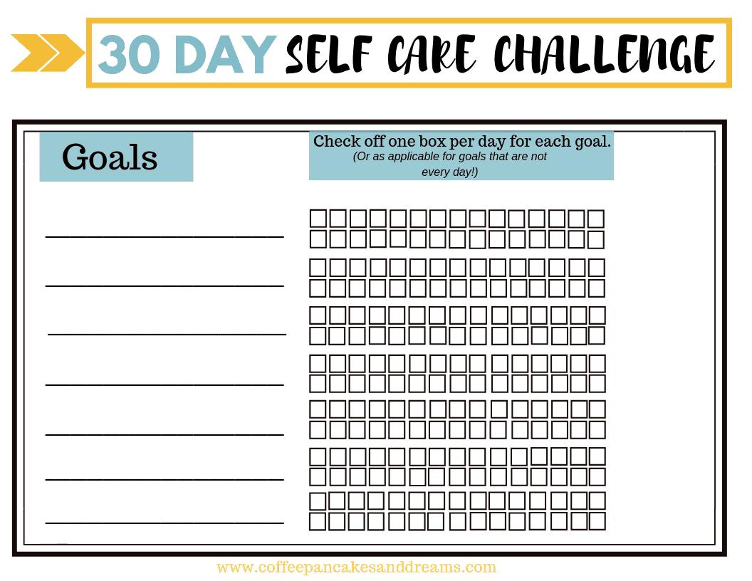 Self Care Daily Habit Worksheet #freeprintable #selfcaretips #dailyroutine
