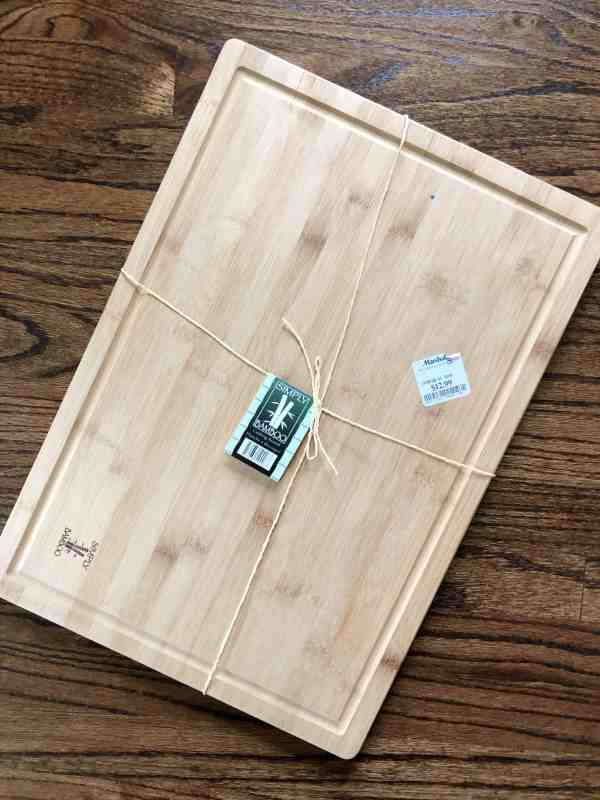 Inexpensive wood cheese board platter