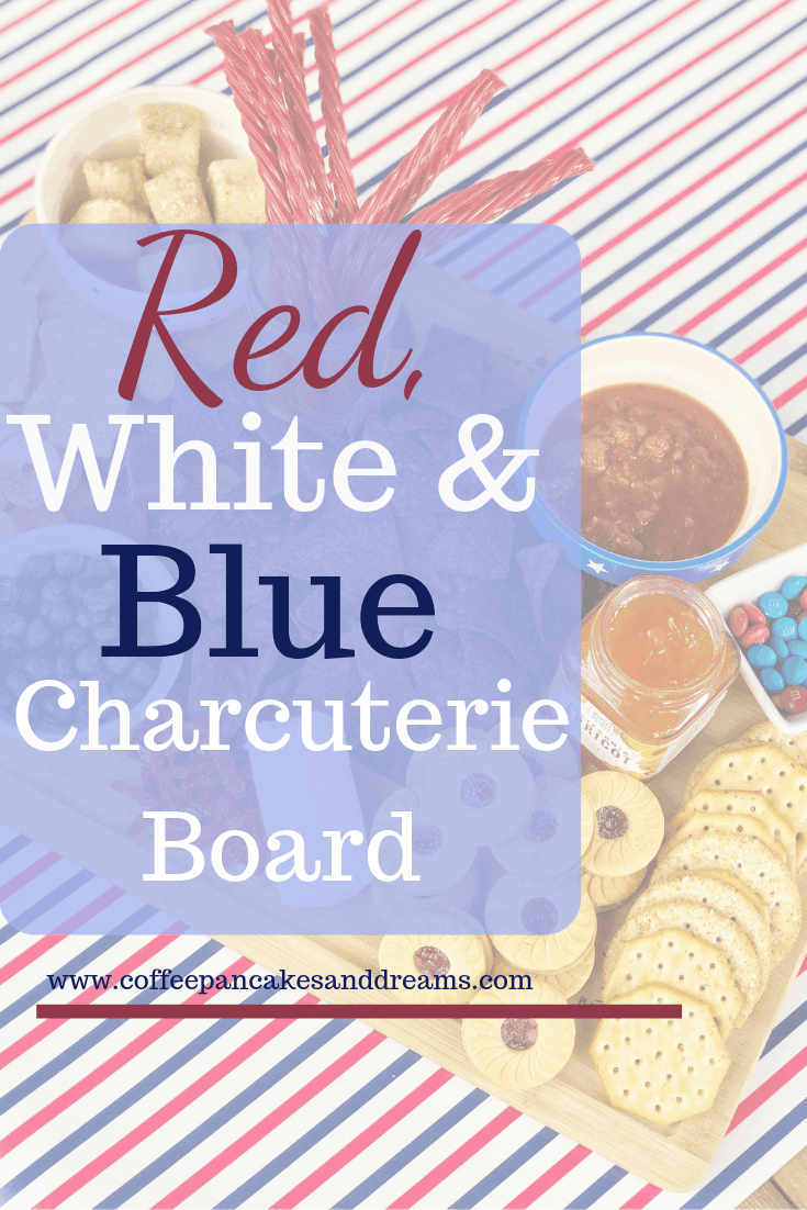 Summer themed charcuterie board inspiration #easy #appetizer #fingerfoods #4thofjuly #memorialday