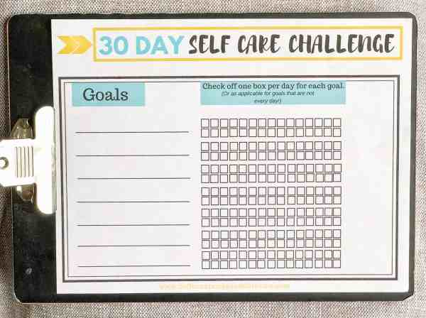 self care worksheet goal setting #freeprintable #tips #activityworksheet