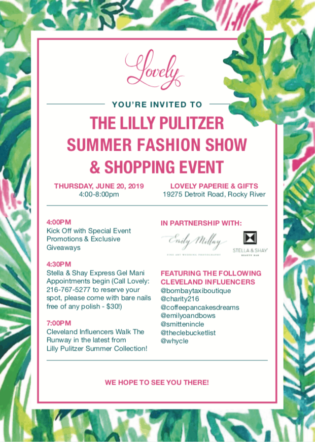 Lilly Pulitzer fashion show 2019