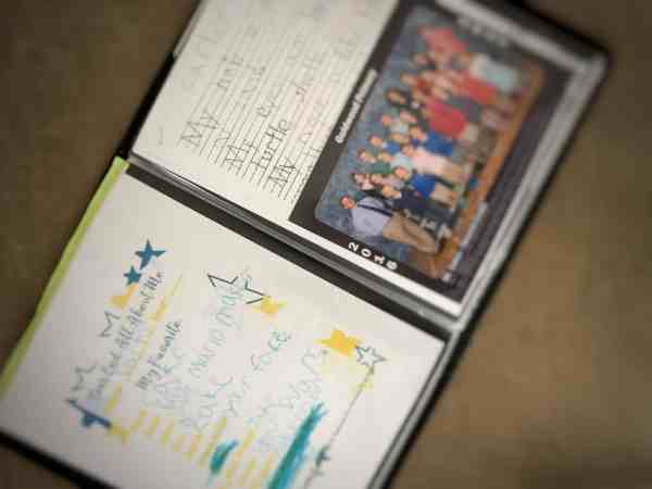How to organize school memories #organization #kids #family