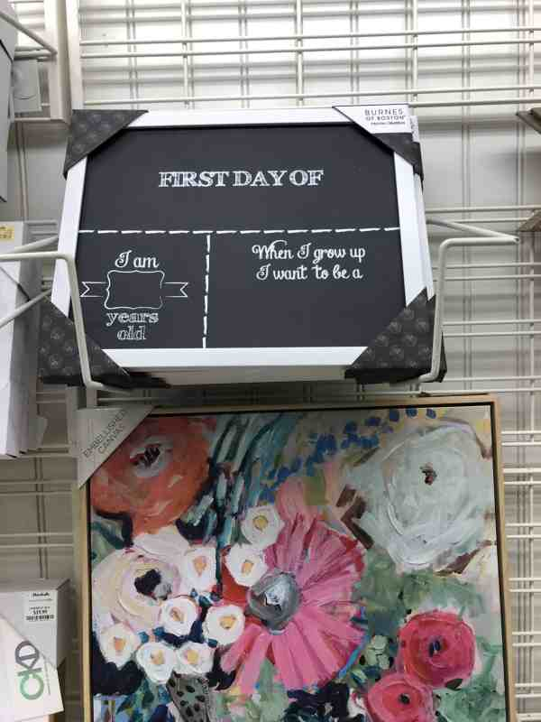 1st Day of School Sign