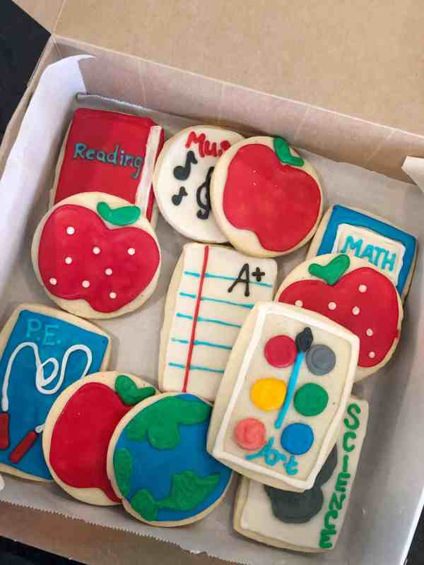 Back-to-school cookies