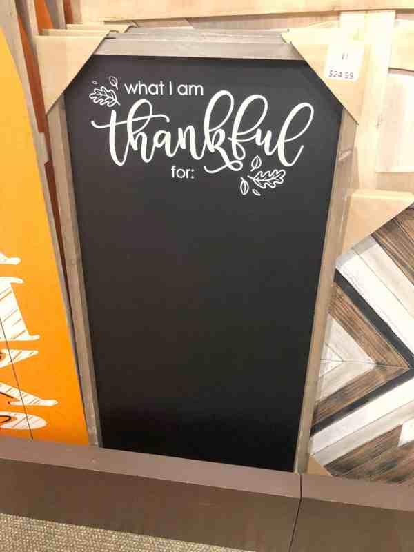 Thanksgiving Thankful Chalkboard #farmhouse #gratitude