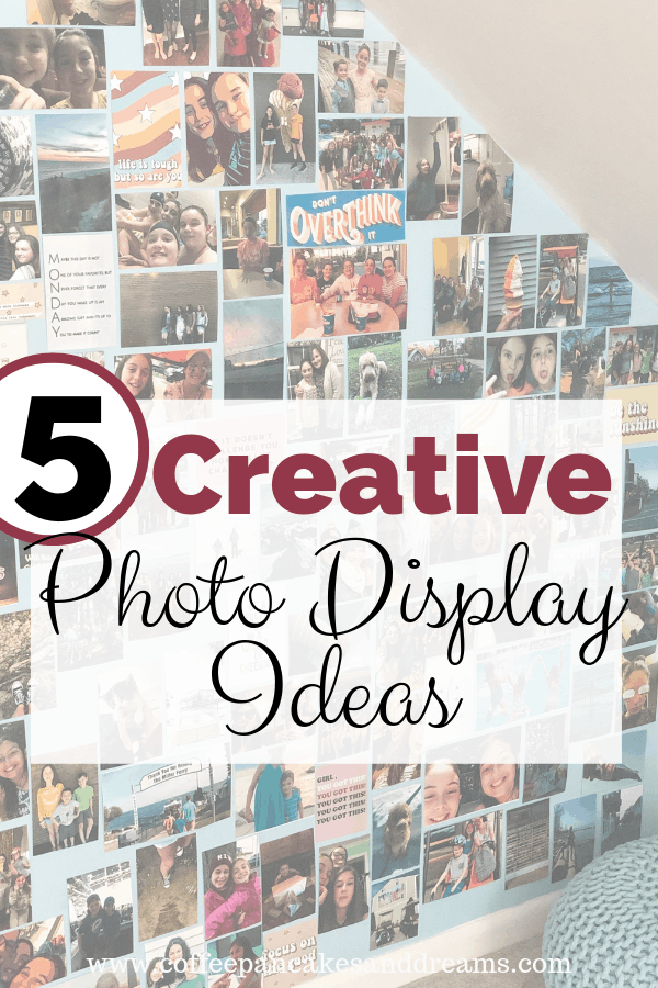 how to create a photo wall and other creative photo display ideas #photoorganization #photocollages
