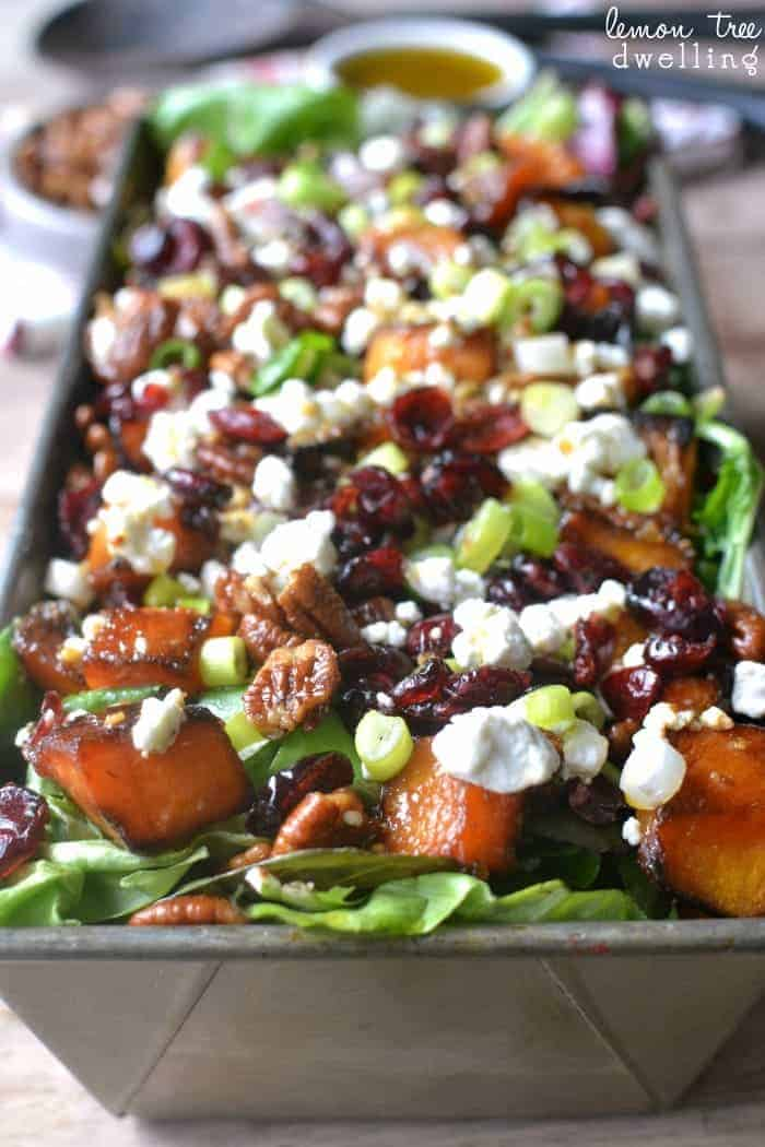 Healthy and Easy Fall Salads #butternutsquash #thanksgiving #autumn