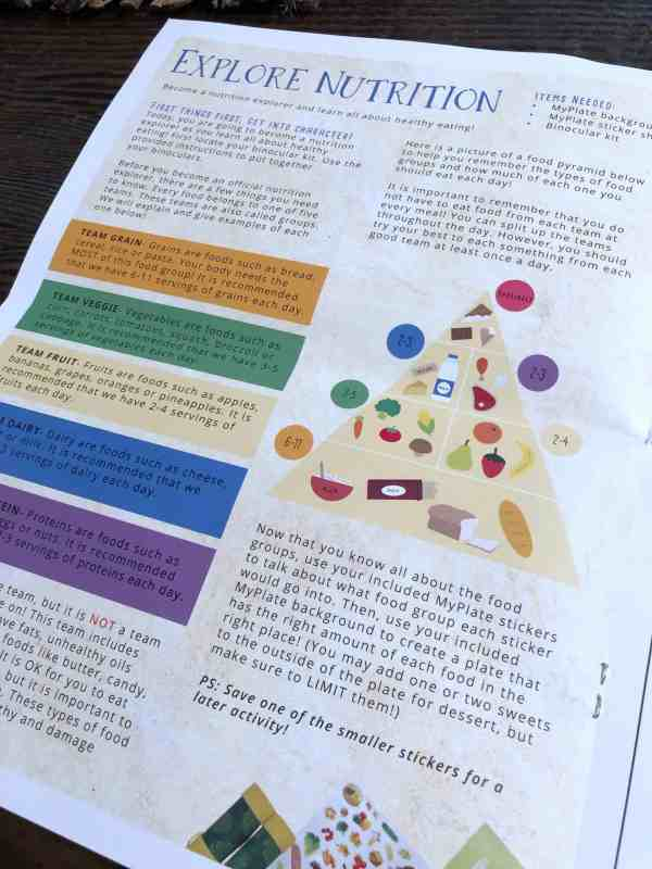 Kids Night in Nutrition Explorers Food Pyramid