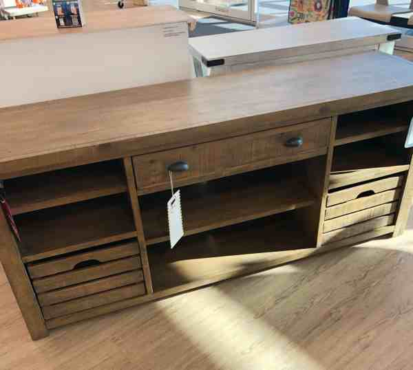 Farmhouse media console #homegoods #wood #fixerupper