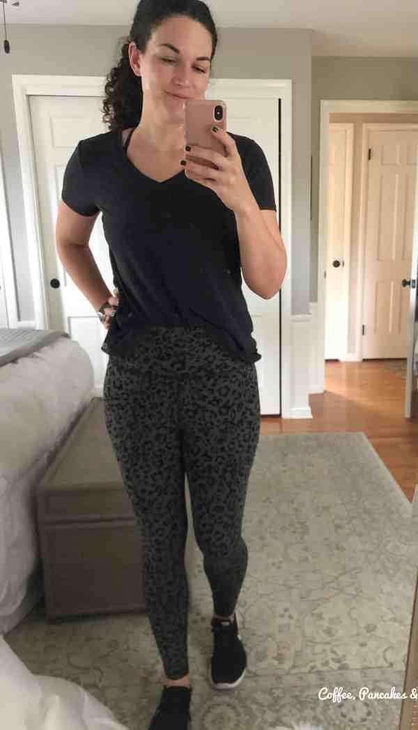 leopard print workout pants