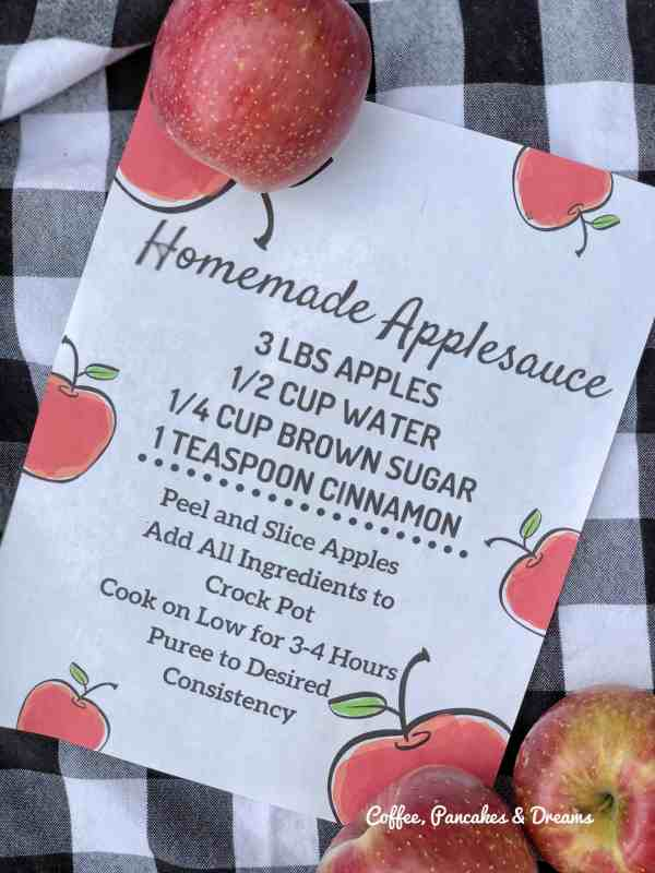 printable applesauce recipe