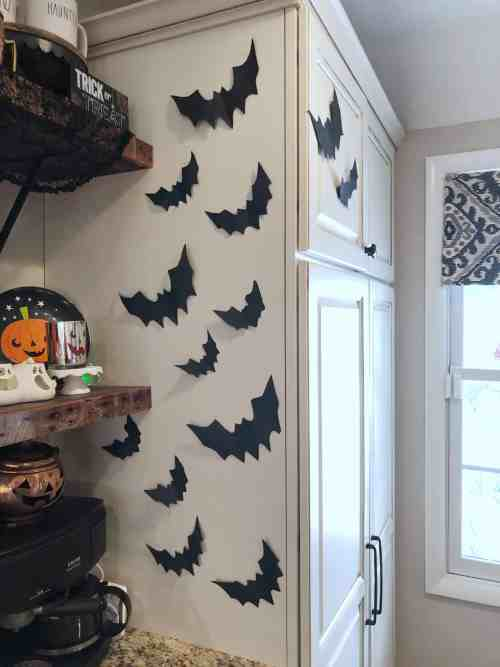 Halloween Coffee Bar #bats #decor #halloweenideas