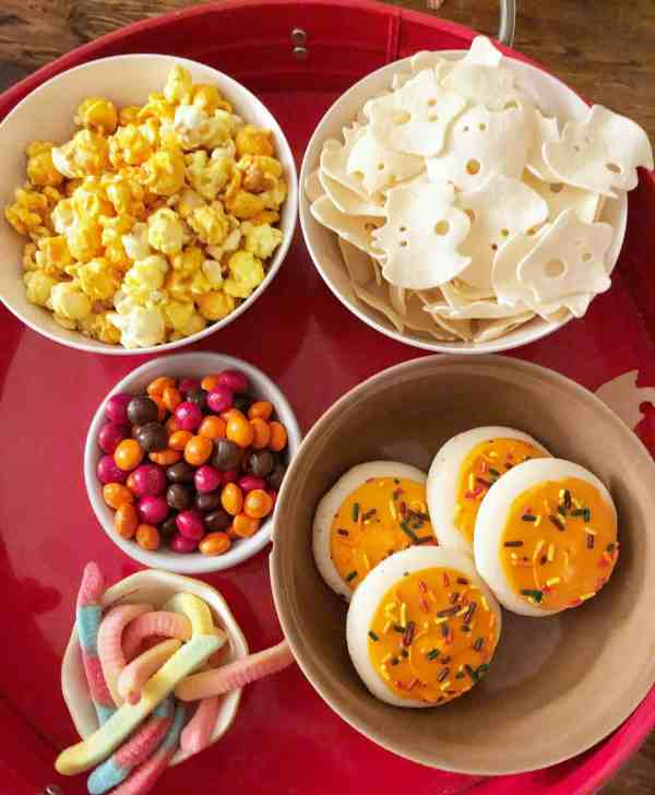 Halloween Movie Night Snack Tray