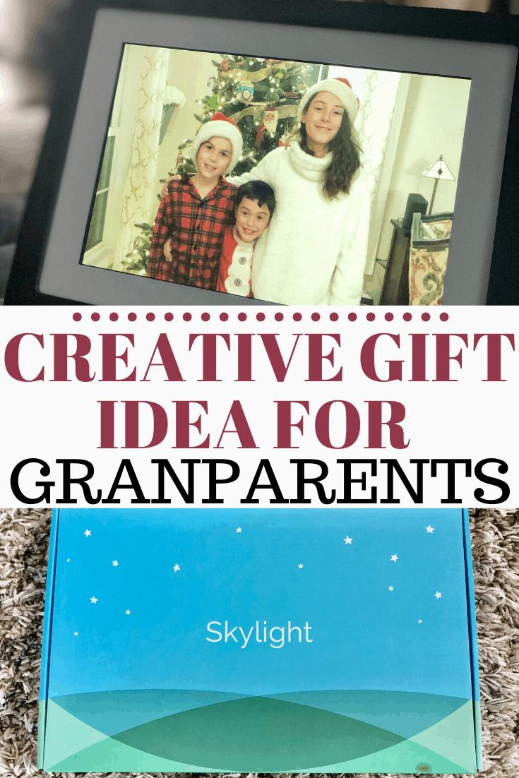Christmas gift idea for grandparents #holiday #photogift #grandkids #family