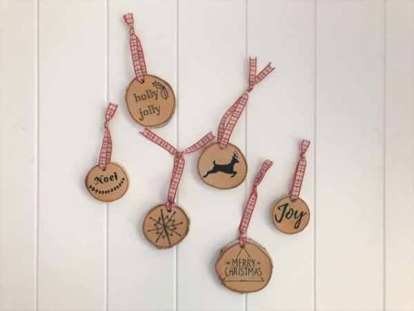 Wood Slice Ornament DIY