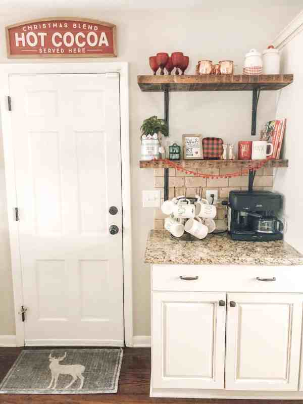 Christmas Farmhouse Coffee Bar