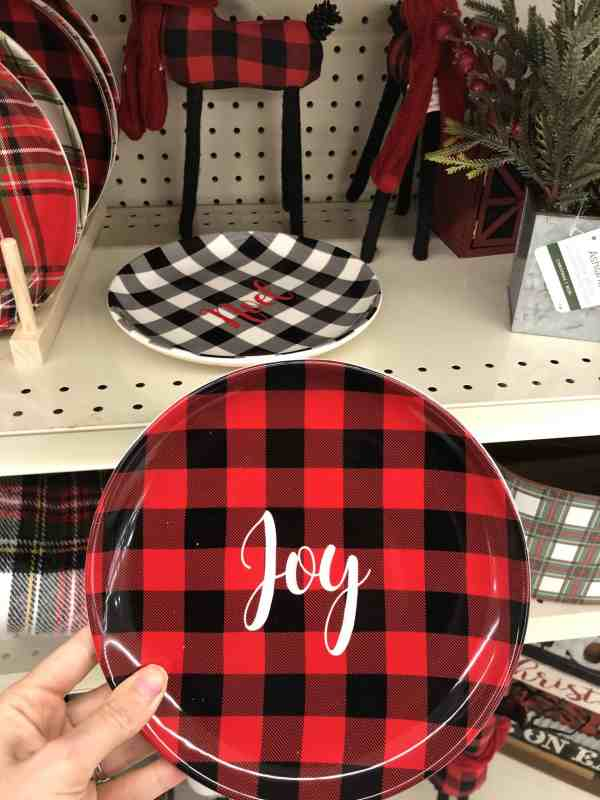 Plaid Christmas decorations
