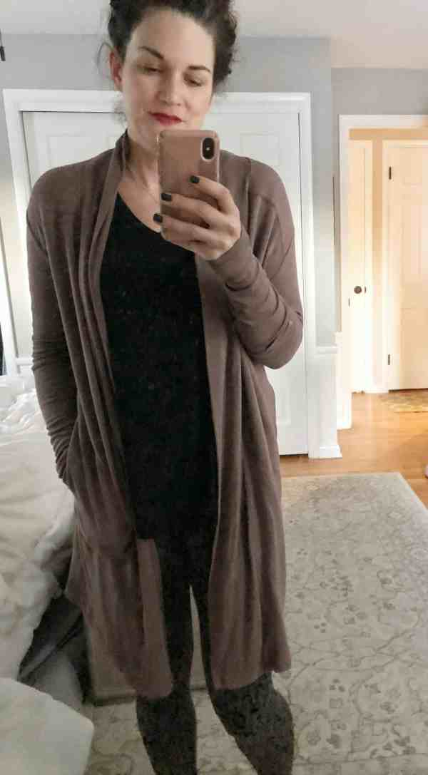 athleta long wrap #athleisure