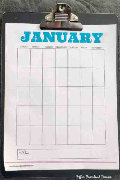 Free Blank Calendar Pages 2020 #monthly #download #familycalendar