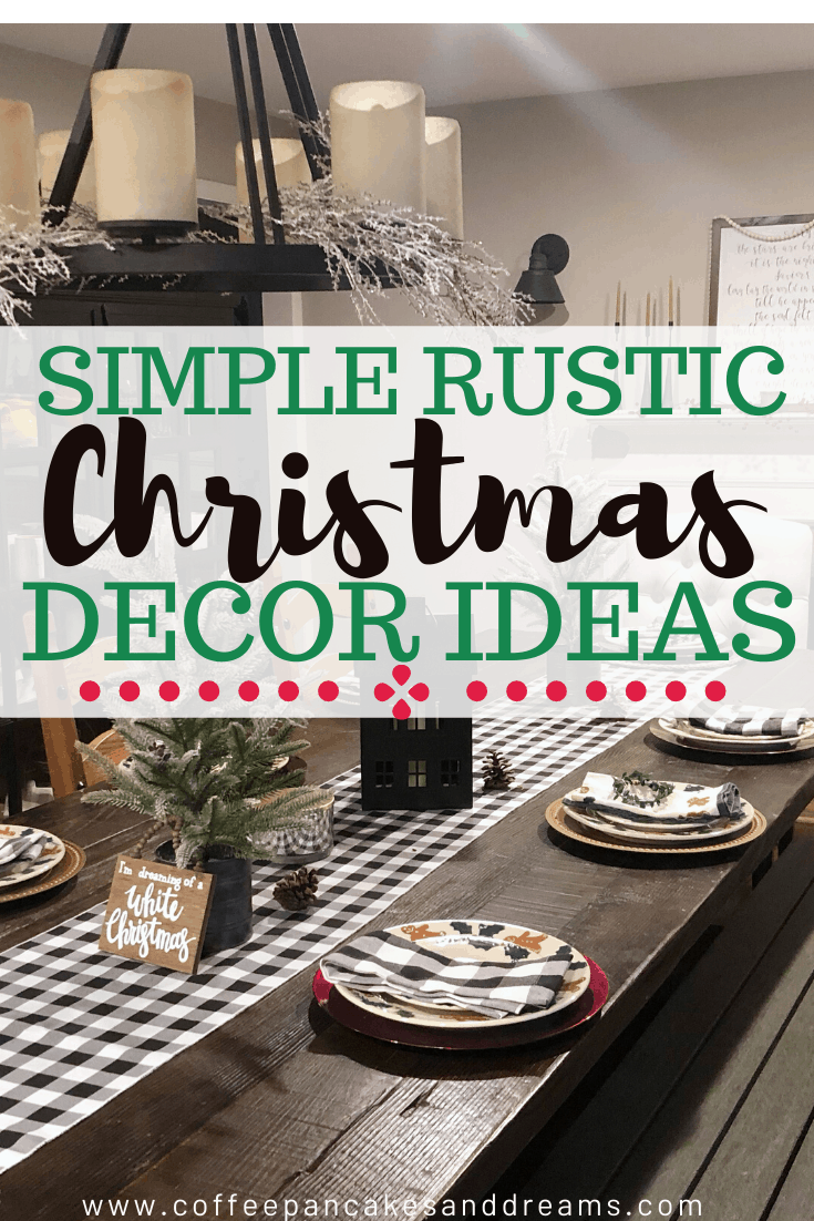 Simple Rustic Christmas Decor Ideas #farmhouse #buffalocheck #diy