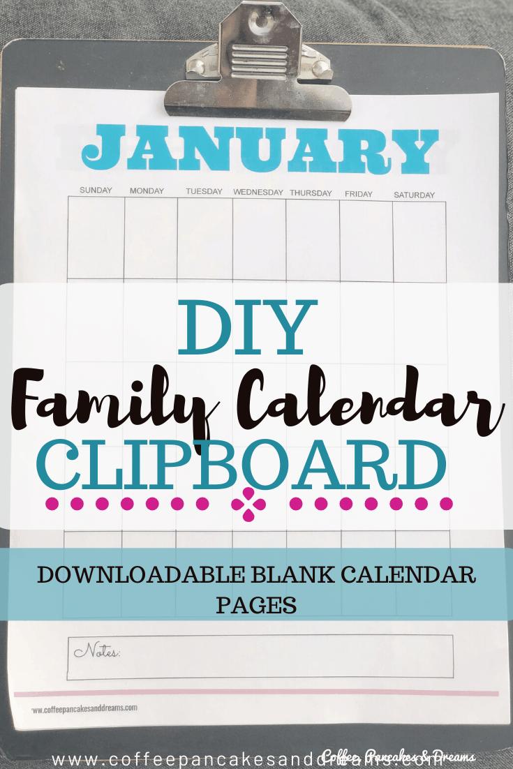 Blank Calendar Printable Free 2020 #clipboard #family #printable