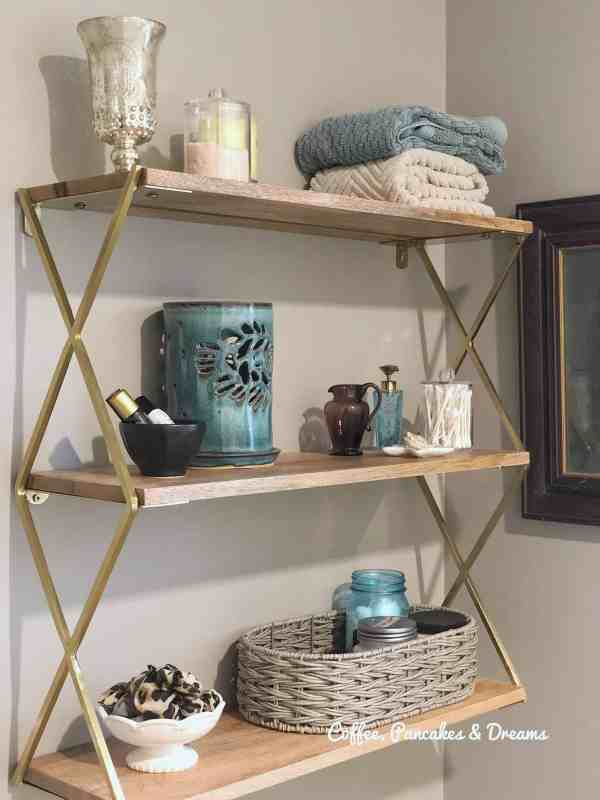 how to arrange bathroom shelves #organization #storage #smallbathroom
