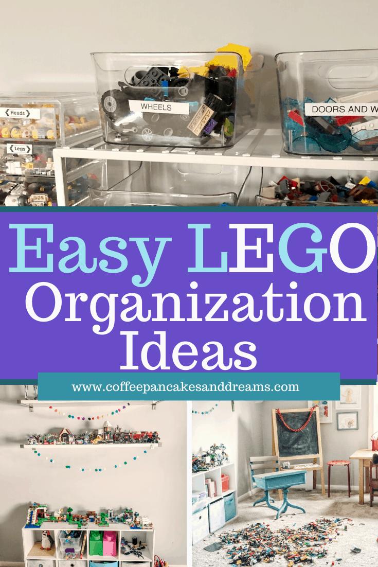 Lego Organization ideas that are easy and simple #storage #minifigures #Legoorganization