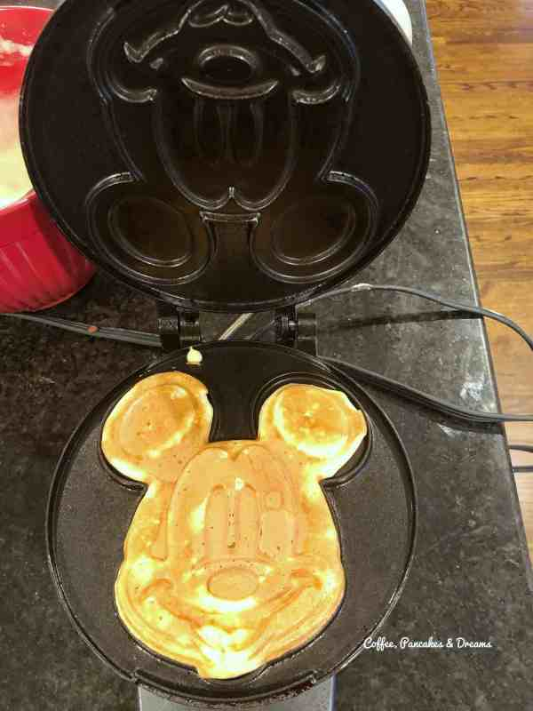 how to make mickey waffles