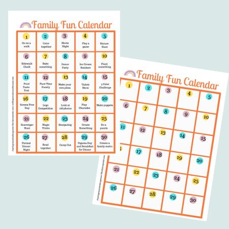 30 Days of Family Fun Activities