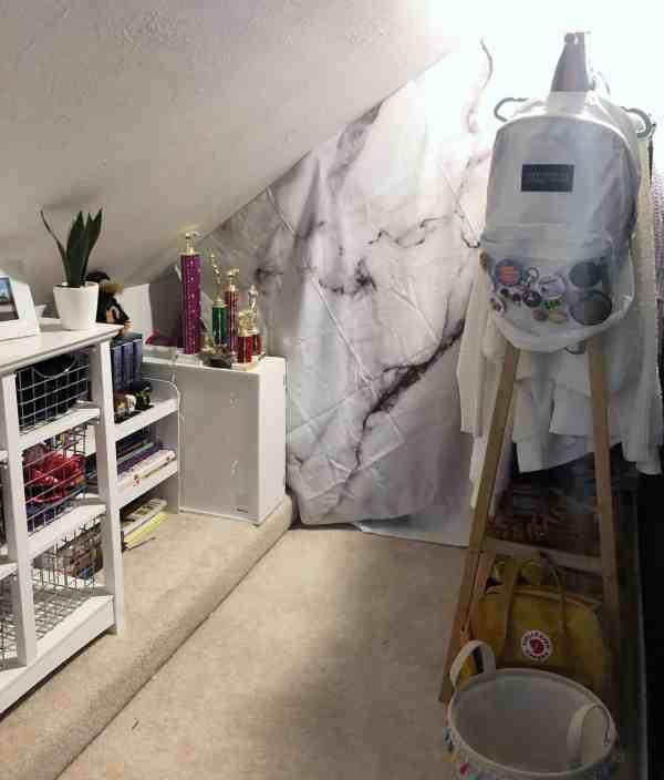 small teen walk in closet idea
