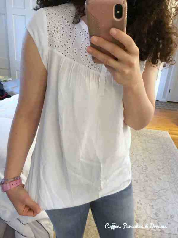 Stitch Fix May Review Eyelet White Top