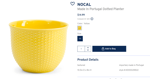 Yellow Dotted Planter